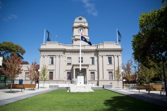 Geelong West Town Hall Forecourt